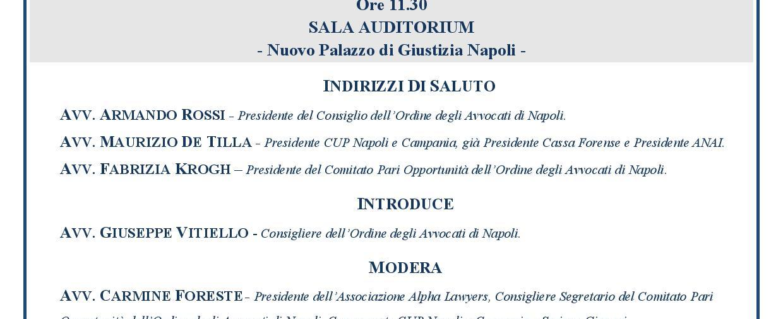 Convegno: Confronto con cassa forense (Napoli)