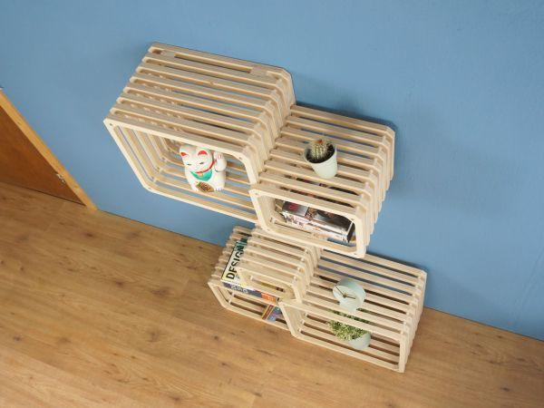 Parallel shelving studio lorier - top - modular shelving - wall shelf - customizeable shelf