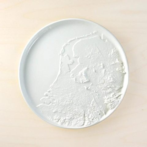 NEW: Geographic plate of the terrain in the Netherlands. Now available for €89