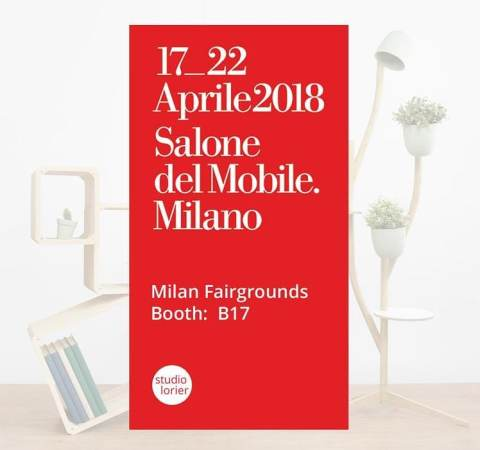 Next month we will unveil some new projects at the Salone Satellite in Milan. Come and visit us from 17 till 22 April