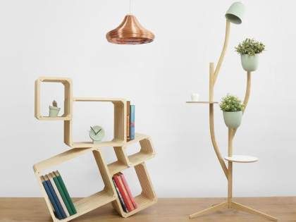 Lamps and shelving