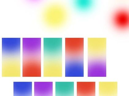 Some gradient color tests. Let's see what will become of this