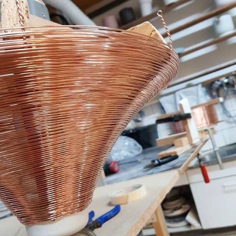 Another day of copper braiding.