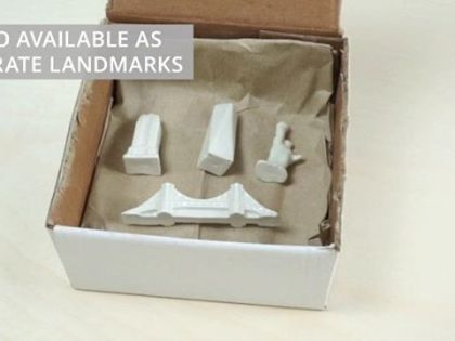 Bored with board-games? Customize it with the porcelain set of landmark pawns