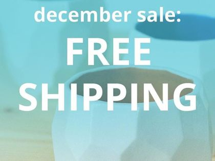 Get you Christmas gifts now with free shipping this December. Claim it now in our webshop