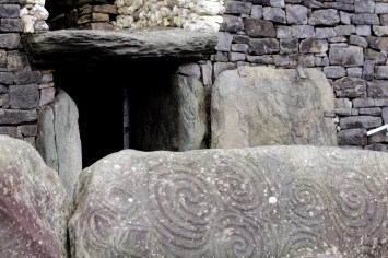 """The entrance to Newgrange. At it's narrowest, the passage into the central chamber is 15.5"""" wide and a little over 4 feet high."""