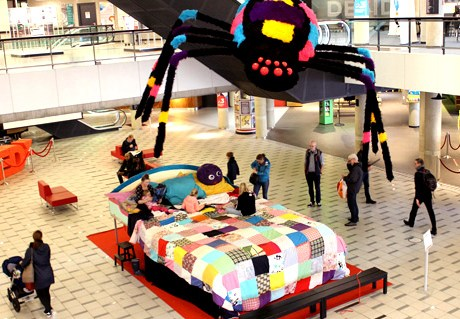 'Giant Bug Bed' during the Children's Book week 2017