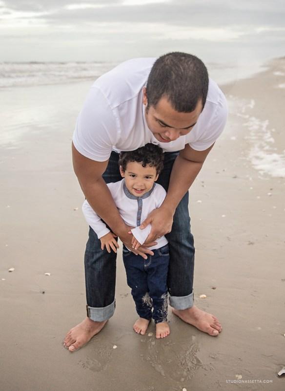 father son portrait beach corolla nc