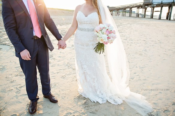Outer Banks wedding photography kitty hawk pier NC - Hilton Garden Inn