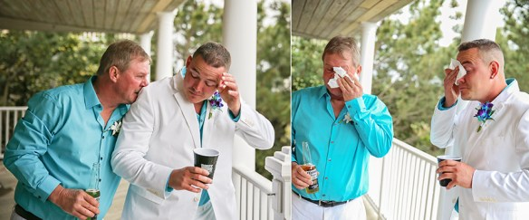 Outer-Banks-wedding-groom-best-man-crying