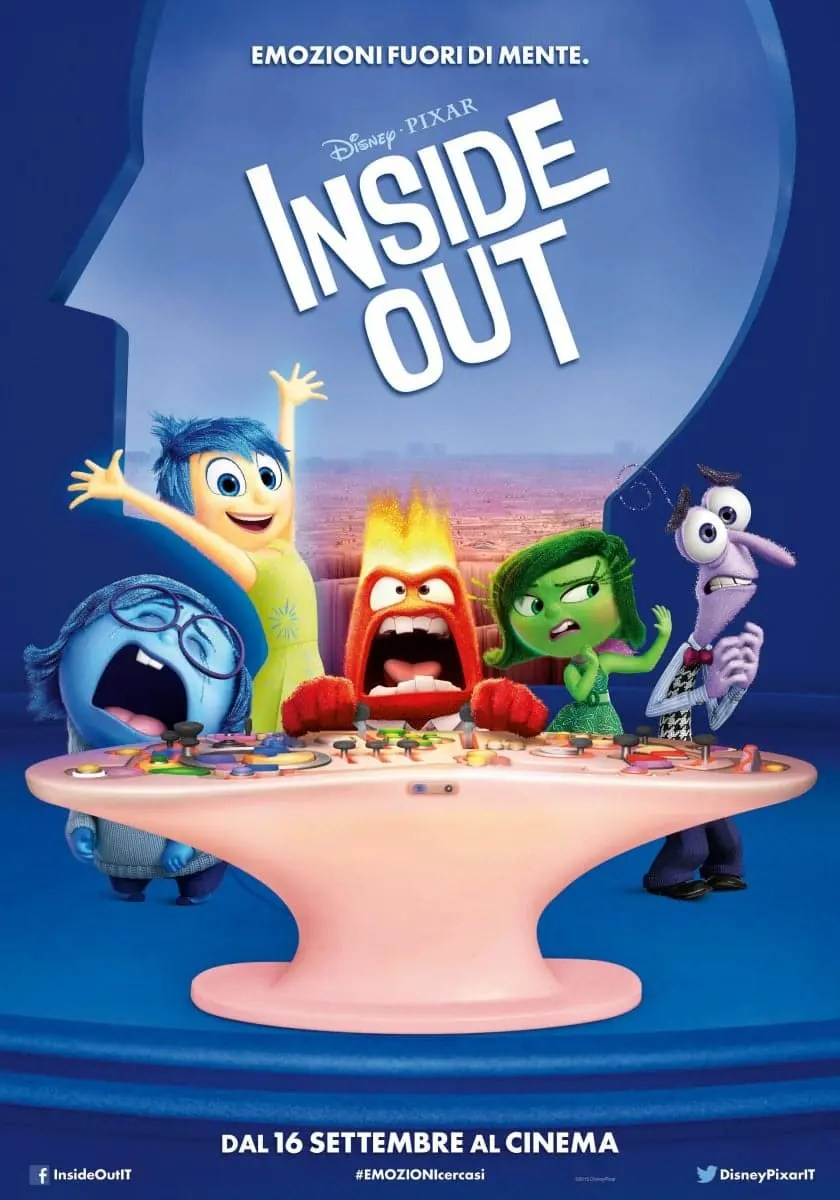 Film cartone Inside out - Progetto di Studio Netiquette