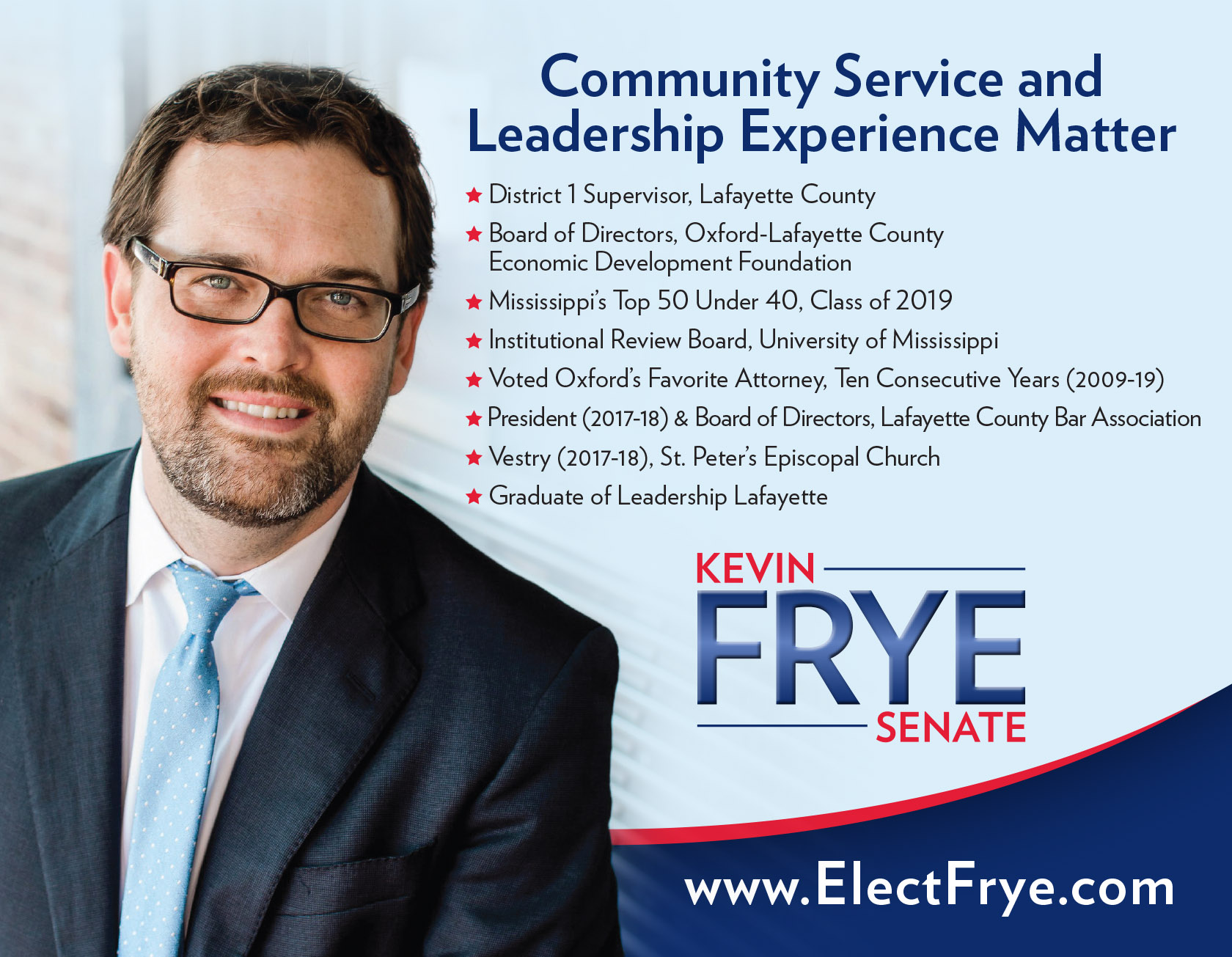 Kevin Frye campaigns