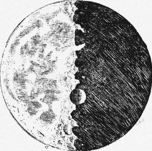 Croquis lunaire de Galilée