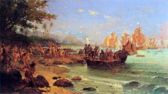 Oscar Pereira da Silva - Desembarque de Pedro Álvares Cabral em Porto Seguro em 1500