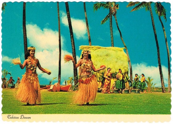 Tahitians Dancers by Postcard farm