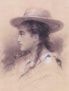 Le-profil-de-Rarahu-dessin-de-Pierre-Loti-collection-particulière