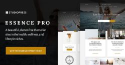 essence pro, a beautiful, clutter-free theme for sites in the health, wellness, and lifestyle niches