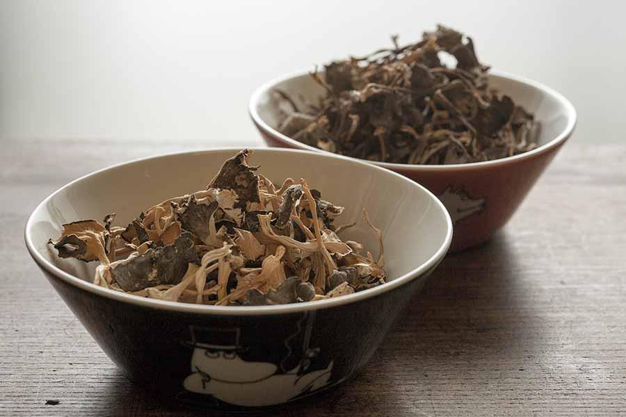 kuivatut sienet suomalaisesta metsästä