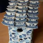 vogelhuis met porselein