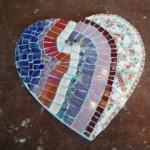 hart glasmozaïek 12 x 12 cm