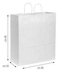 Shopper in carta 45x48x20 bianco