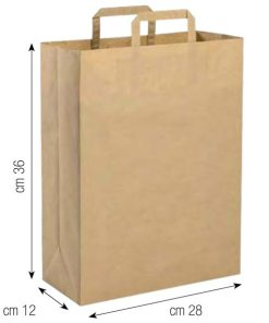 Shopper in carta 28x36 naturale