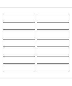 Etichette adesive rettangolari 90x20