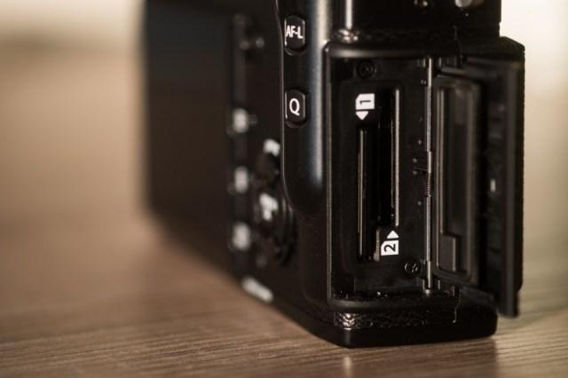 Le double slot de cartes SD