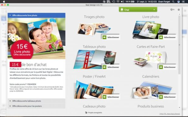 Interface Adobe Air