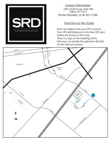 Studio Rental Dallas Directions