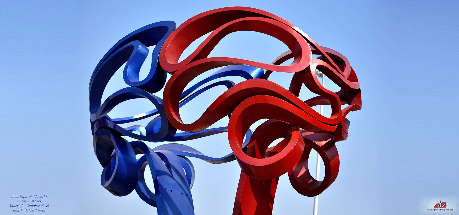 steel sculpture india auto expo India