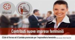 Contributi per la nascita e lo sviluppo di nuove imprese femminili, edizione 2015 - studiorussogiuseppe.it