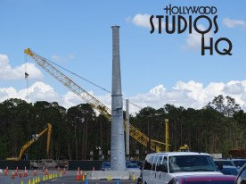 Yet another haul cable support tower for the forthcoming Disney gondola guest transportation system is standing tall at Disney's Hollywood Studios! The latest metal structure located in the Film parking area is number three for the Studios area so far. Nearby at the Park entrance the actual Studio's arrival and departure station for this system has vertical concrete structures finished and put into place. Readers get ready for North America's largest-ever gondola network which when completed will add even more magic to guest vacation experiences. Disney's Hollywood Studios. Photo by John Capos