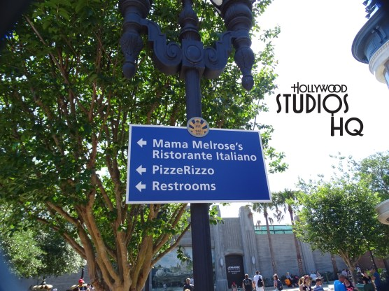 Guests visiting this week at Disney's Hollywood Studios will be better directed by new signs recently installed in the Grand Avenue area. New handicap signs indicate access for wheelchairs and motorized scooters to conveniently access the sidewalks. A decorative new sign partially down Grand Avenue directs guests to the Muppet Vision 3-D attraction, Mama Melrose's Ristorante Italiano restaurant, as well as the restrooms. Some new flowers are blooming as well on Grand Avenue. The adorable Muppet Babies from the Disney Junior weekday series on the Disney Channel are promoted courtesy of a new billboard at the Muppet Vision 3-D main entrance. PizzeRizzo patrons take note; you need to enjoy the great pizza, meatball subs, or antipasto salad before the daily 4pm closing time, now that the spring break crowd has subsided. Disney's Hollywood Studios. Photo by John Capos