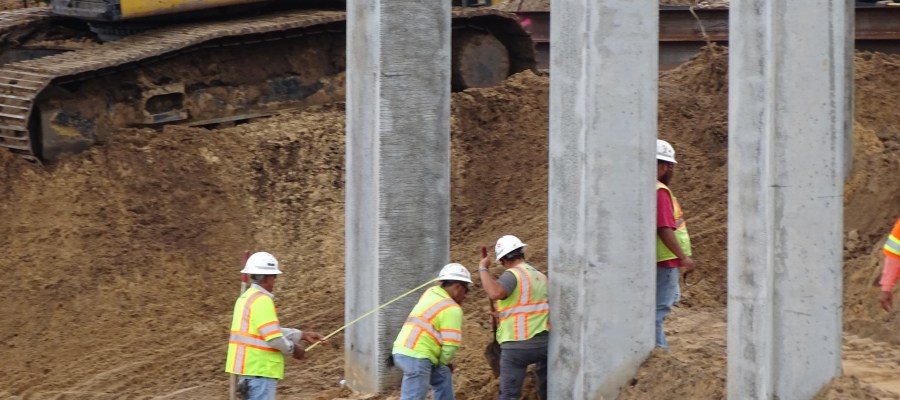 Construction crews continued progress on completing the Park's future main vehicle entrance. New pictures below convey the extent of this effort through first hand views. First, from across the current Film parking area where multiple steel beam are in place. Second, a glimpse of the unpaved roadway from the ESPN complex which will be the actual new entrance beginning from the corner of Victory Way and Osceola Parkway. Disney's Hollywood Studios. Photo by John Capos