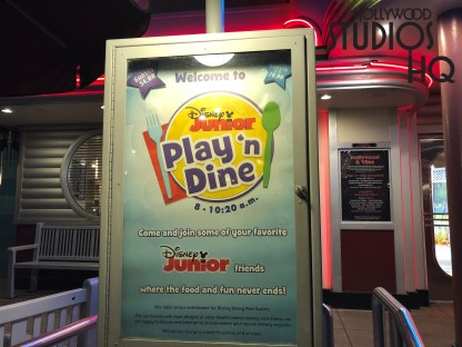 Beginning May 13, diners will enjoy Roadster Racers Goofy who will replace Handy Manny at this Disney Junior Play 'n' Dine Breakfast. Roadster Goofy joins Jake, Doc McStuffins, as well as Sofia the First to greet families daily. Disney's Hollywood Studios. Photo by John Capos