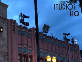 New special roof top lighting was spotted along Hollywood Blvd and mounting columns in place atop Grand Avenue buildings in preparation for the May 27 Star Wars: Galactic Nights event. Numerous lighting clusters in place are signs that the Park has initiated preparations for this Star Wars fan event. Disney's Hollywood Studios. Photo by John Capos