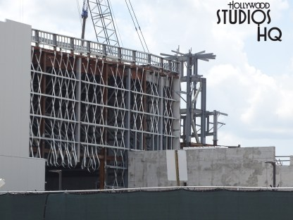 Construction activity continues on this future land. Photos below document ongoing work on a third mountain as well as continuing roof work. Material delivery to the site by truck this week included fabrication sheeting and piping. Check in with Hollywood Studios HQ weekly for the latest updates on Star Wars: Galaxy's Edge. Disney's Hollywood Studios. Photo by John Capos