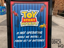 The three tracks of this popular attraction will be off line June 11 through June 18, 2018, while crews complete the final main entrance configuration. Woody and his friends will return on June 19 to once again thrill riders on the midway. The attraction's entrance will remain in Pixar Place on June 19 until it moves permanently to the new Toy Story Land for the long awaited June 30 grand opening. Disney's Hollywood Studios. Photo by John Capos