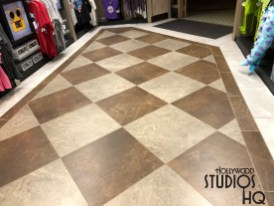 The popular Reel Vogue store has reopened after a brief refurbishment. New tile flooring has been installed to match the design of the adjoining Beverly Sunset Boutique. Disney's Hollywood Studios. Photo by John Capos