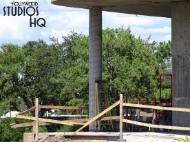 Crews continue steady progress on the Park's gondola arrival and departure station. A new overhead roof extension with columns that faces the Park entrance is among the photos below. Hollywood Studios HQ is your best source for up to the minute coverage of this ongoing project. Disney's Hollywood Studios. Photo by John Capos