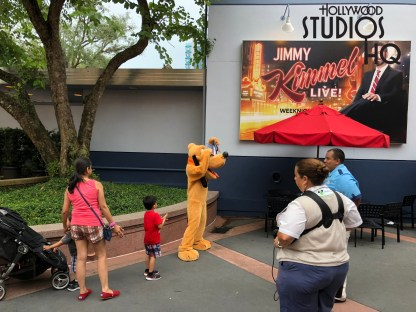 Guests looking to interact with the lovable Pluto will now find him posing with them for photos and signing their autograph books just outside of the ABC Commissary. This Commissary Lane location is temporary while crews refurbish Pluto's regular meet and greet spot in the Animation Courtyard August 28 -30. Meanwhile, the Disney Junior characters remain in the Animation Courtyard to interact with guests. Disney's Hollywood Studios. Photo by John Capos