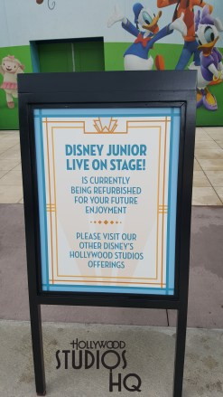 The Disney Junior Live On Stage is currently closed for refurbishment. When doors reopen later this Fall, guests will enjoy a new live sing and dance experience with some really cool Characters. The new Disney Junior Dance Party will enable young and old to sing and dance along as guest favorites like Doc McStuffins, Timon, and Vampirina as they perform tunes on stage from favorite Disney Junior shows. Hosted by the DJ and party host, this new Disney Junior Dance Party with extra-special friends will provide a thrilling experience. Meanwhile Pluto has returned to his normal meet and greet location outside of Disney Junior with a dance theme background. Disney's Hollywood Studios. Photo by John Capos