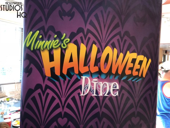 Guests eating at Hollywood and Vine now enjoy a special Halloween dining treat. The prior summer theme has transitioned to a full spooky dining and character experience. Mickey and his friends are arrayed in their colorful Halloween costumes to greet and entertain guests as captured in photos below. A delicious food buffet includes ghoulish green beans, shrieking crayfish étouffée, spell-binding salads, and bubbling brews soup. A tempting trick or treat dessert selection includes themed cupcakes, either chocolate with pumpkin orange colored frosting or strawberry guava. Guests ready to enjoy this Halloween themed dining experience can call 407-WDW-DINE for reservations. Disney's Hollywood Studios. Photo by John Capos