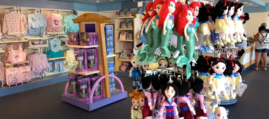 Shoppers can once again choose from a great selection of Disney Princess themed merchandise at In Character. Located on the Animation Courtyard, this open air shop offers an array of Princess themed children's apparel and figurines certain to delight the young ones. In addition, a variety of Minnie ears designs also await shoppers. Disney's Hollywood Studios. Photo by John Capos