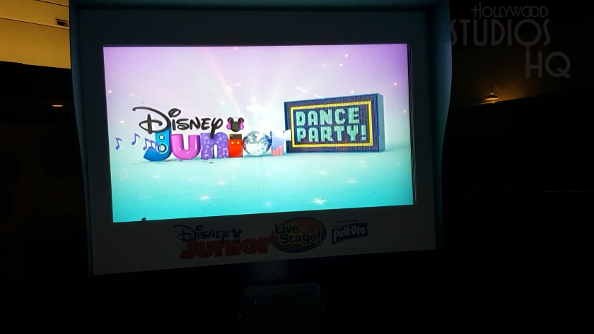 The monitors in the guest cue line provide the first look at the new Disney Junior Dance Party! Show logo. The show will debut in late December 2018. Hollywood Studios HQ will continue to reported the latest entertainment news on this coming attraction. Disney's Hollywood Studios. Photo by John Capos