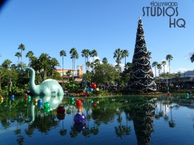 Guests will enjoy the Christmas themed decor throughout the park. The 2018 holiday decorations abound including the new Toy Story Land where Rex is adorned with reindeer antlers. Only Hollywood Studios HQ brings you the most up to date holiday season news and photos. Disney's Hollywood Studios. Photo by John Capos
