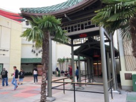 Construction walls have been removed in the Chinese Theater courtyard to reveal new guest cue railing in preparation for the future Mickey and Minnie's Runaway Railway attraction. The Theater's original classic water fountain and celebrity foot prints remain. Continue to view Hollywood Studios HQ for construction updates. Disney's Hollywood Studios. Photo by John Capos