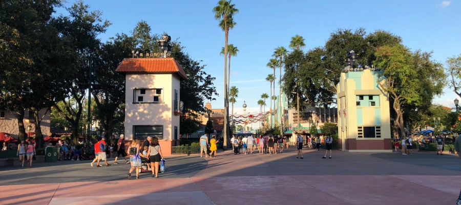 Workers have completed the concrete surface renovation in the Park's center stage area. This walkway surface was the third area to undergo concrete refurbished in the Park. Hollywood Studios HQ is the best source for all construction activity news. Disney's Hollywood Studios. Photo by John Capos