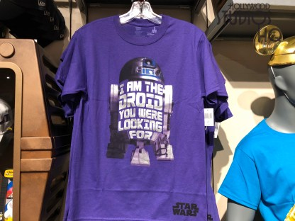 Just in time for the holidays, Tatooine Traders offers two new Star Wars adult tee shirts. Shoppers can select from brightly colored droid themed apparel for themselves or for great gifts. Disney's Hollywood Studios. Photo by John Capos